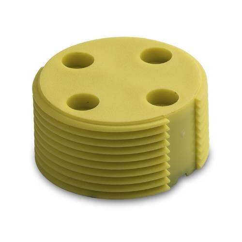 Bin Tag LF FDXB BDE EN14803 30 mm Yellow No logo angle 784104 102Y 1